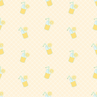 Modello senza cuciture di limonata fresca estiva