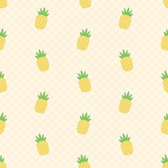 Modello senza cuciture di ananas fresco estivo