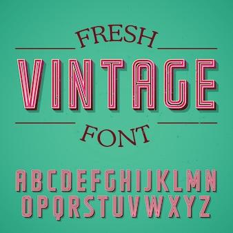 Poster di carattere vintage fresco