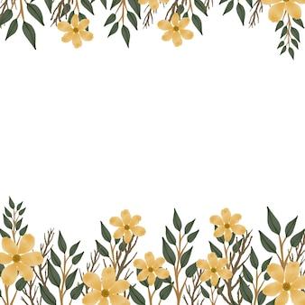 Sfondo di fiori gialli freschi per biglietto di auguri