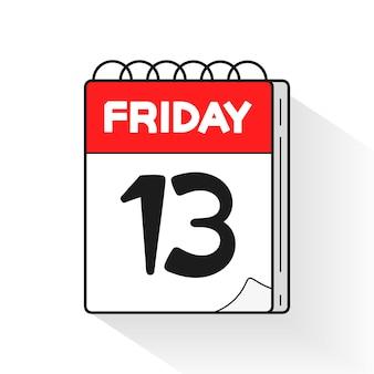 Venerdì 13, grande design per qualsiasi scopo. vettore del venerdì nero. disegno di halloween. grafica vettoriale.