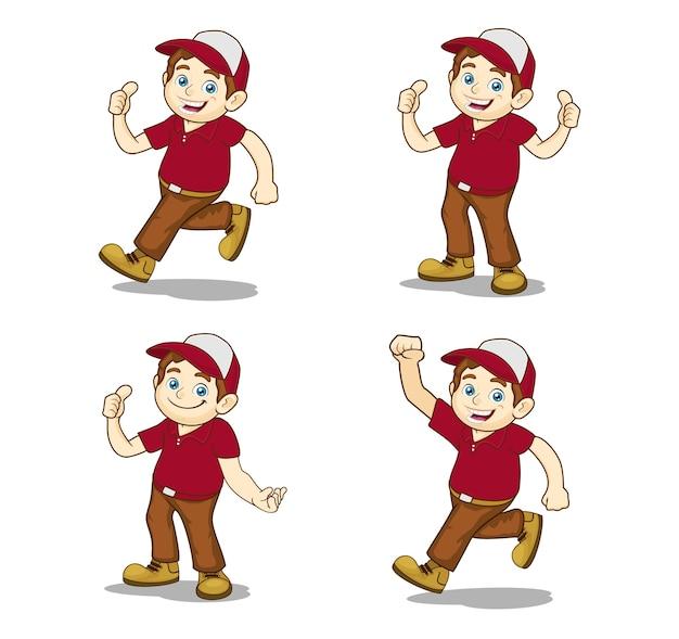 Personaggio dei cartoni animati uomo amichevole