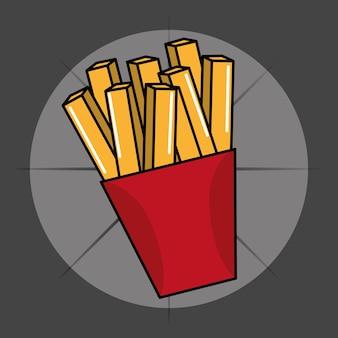 Icona di fast food francese patatine fritte