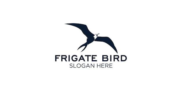 Modello di progettazione del logo dell'uccello fregata