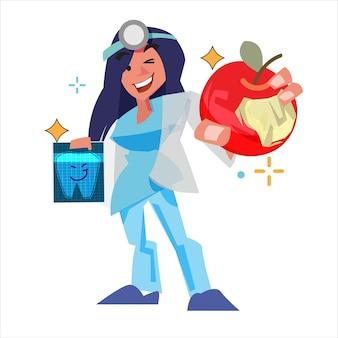 Personaggio dentista femminile