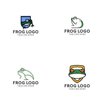 Collezione logo frog