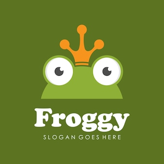 Modello di progettazione logo / icona della rana