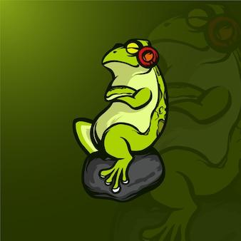 Illustrazione rana mascotte