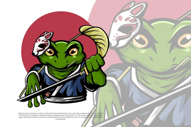 Samurai rana in illustrazione in stile giapponese