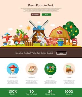 Modello di sito web dalla fattoria alla forcella