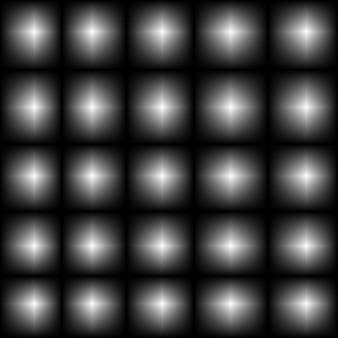 Da cerchi bianchi a cerchi neri di forma quadrata sfumata. illustrazione di vettore. eps10