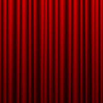 Parte anteriore della priorità bassa rossa chiusa della tenda del teatro