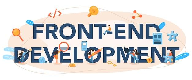 Intestazione tipografica di sviluppo front-end