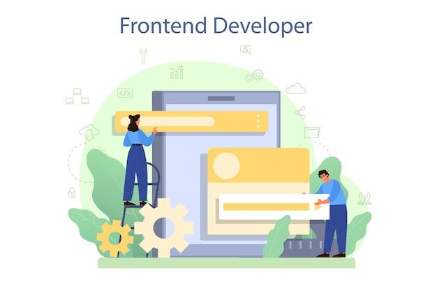 Illustrazione di concetto di sviluppatore frontend