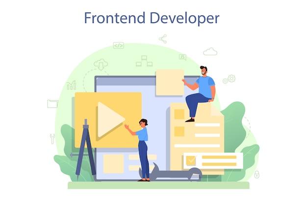 Concetto di sviluppatore frontend.