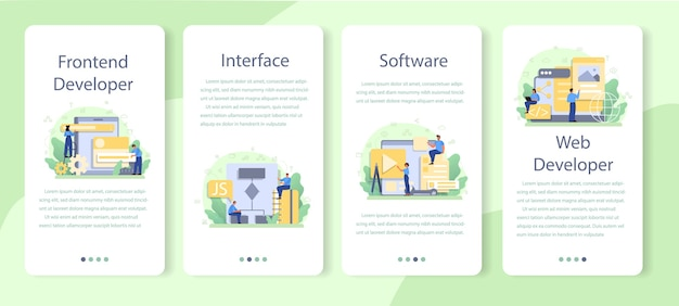 Set di modelli di applicazioni mobili per sviluppatori frontend.