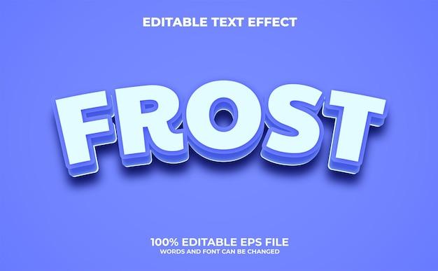 Effetto di testo modificabile frost con stile moderno e astratto vettore premium