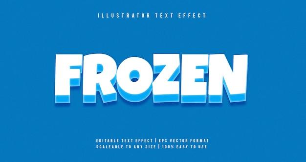 Effetto di carattere di testo del fumetto congelato