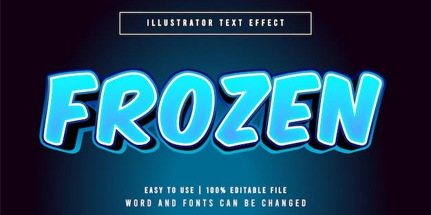 Stile di carattere effetto testo modificabile congelato