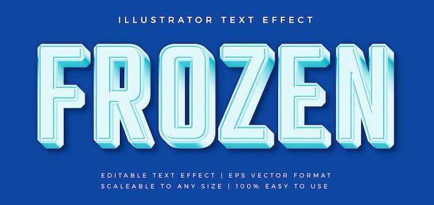 Effetto carattere ghiacciato stile testo congelato