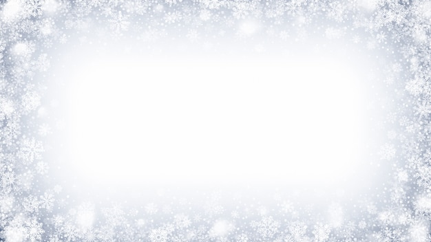 Cornice ghiacciata effetto neve e ghiaccio