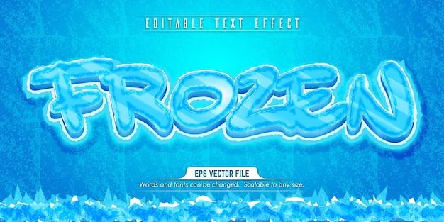 Testo congelato, effetto di testo modificabile in stile ghiaccio