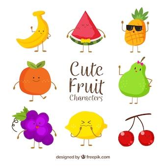 Disegno raccolta di frutta Vettore Premium