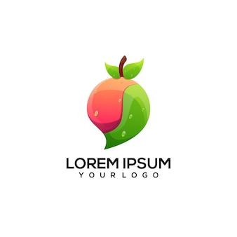 Illustrazione del logo colorato di frutta