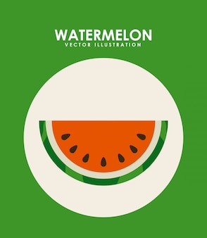 Progettazione di frutta su sfondo verde illustrazione vettoriale