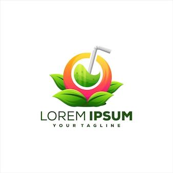 Design del logo sfumato di succo di frutta