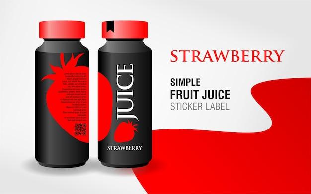 Disegno dell'etichetta del succo di frutta