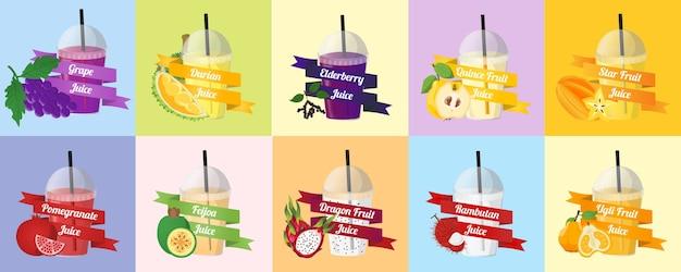 Vettore di succo di frutta Vettore Premium