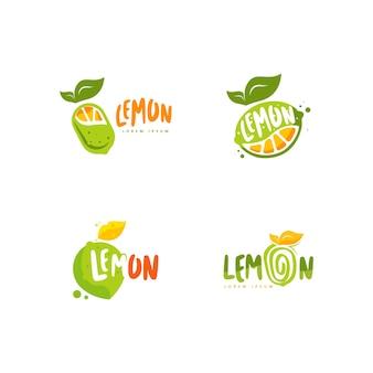Set di logo di frutta