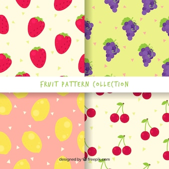 Raccolta di modelli di frutta