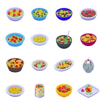Set di icone di macedonia di frutta. set di macedonia di frutta
