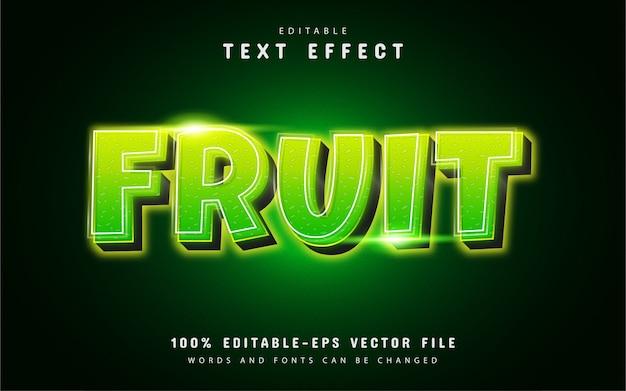 Effetto testo frutta con sfumatura verde