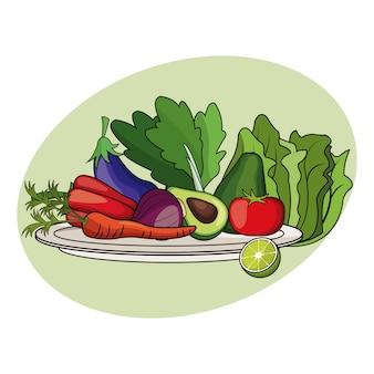 Nutrizione di dieta di verdure di frutta