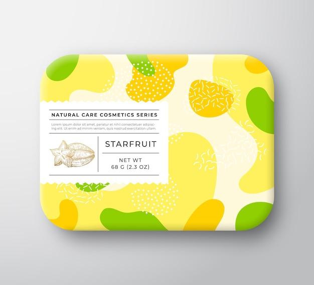 Contenitore di carta avvolto vettore scatola di cosmetici da bagno di frutta fruit