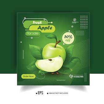 Frutta instagram post design e social media ads banner design