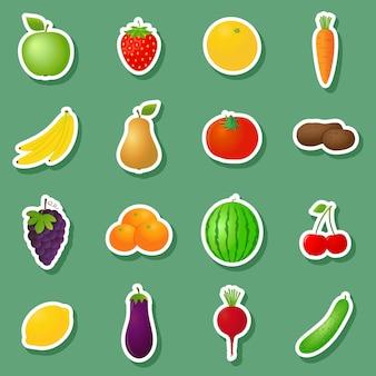 Adesivi di frutta e verdura