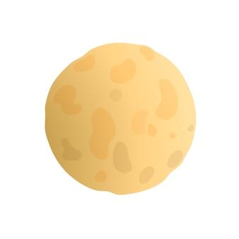 Luna piena in stile certoon su sfondo bianco