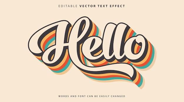 Stile effetto testo completamente modificabile