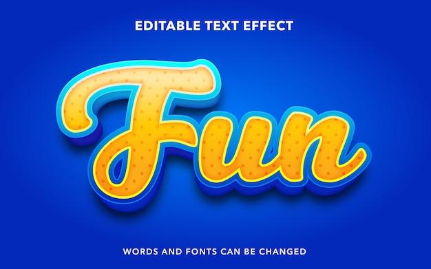 Divertente stile di effetto testo modificabile