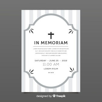 Modello di carta funebre