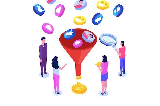 Vendite a imbuto, generazione di lead, marketing online o autorizzato, ottimizzazione del tasso di conversione.