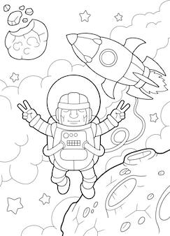 Astronauta divertente
