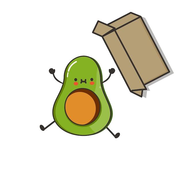 Avocado divertenti kawaii carini