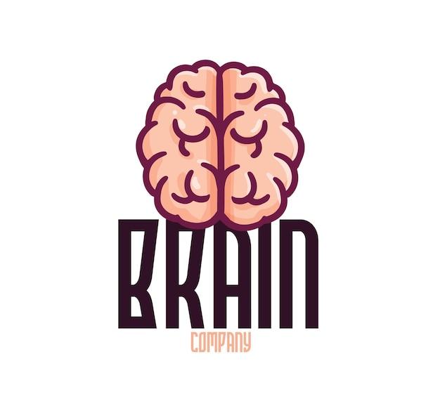 Modello di logo aziendale divertente del cervello