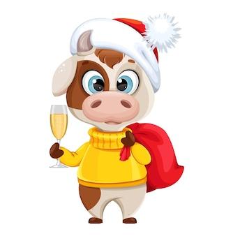 Sacco divertente della holding del toro con i regali