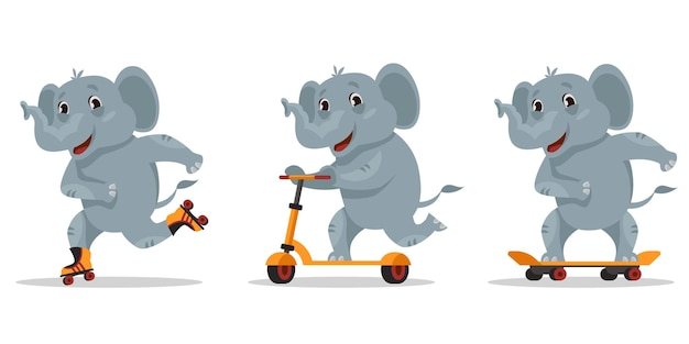 Illustrazione dell'elefante divertente del fumetto